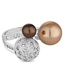Jon Richard champagne pearl ring