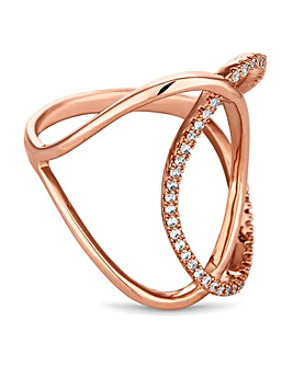 Jon Richard rose gold interlinked ring