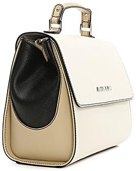 Armani Jeans White Contrast Satchel Bag