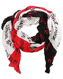 Armani Jeans Light Weight Logo Scarf