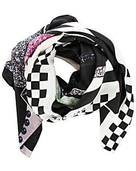 Marc Jacobs Black Bold Cloud Scarf