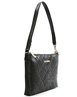Love Moschino Embossed Logo Shoulder Bag