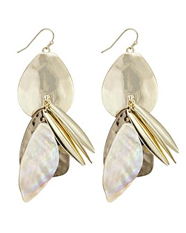 Mood shell cluster statement earring