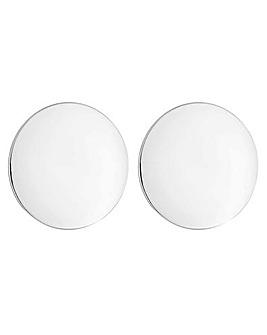 Mood silver oversized disc earring
