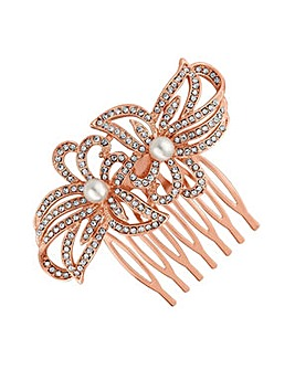 Jon Richard flower hair comb