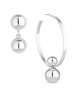 Mood mismatched hoop earring set