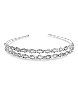 Jon Richard silver double row headband