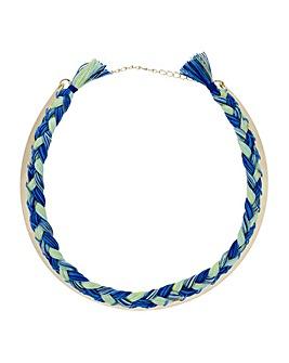 Mood woven choker necklace