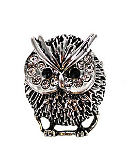 Lizzie Lee Diamante Owl Brooch