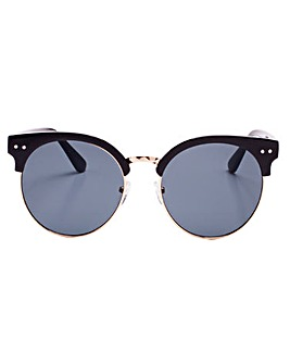 Kenzie Retro Style Black Sunglasses