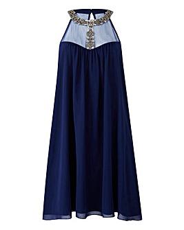 Little Mistress Embellished Swing Dress