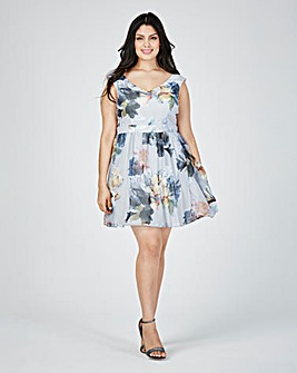 Little Mistress Print Skater Dress