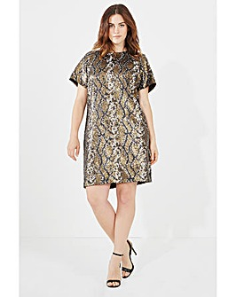 Elvi Snake Sequin Dress