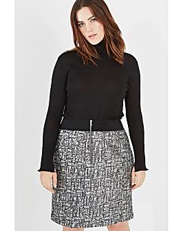 Elvi Sequin Pencil Skirt