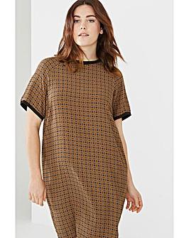 Elvi Tile Print Shift Dress