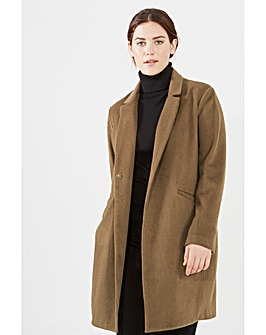 Elvi Brown Boyfriend Coat