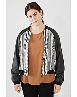 Elvi Mono Print Bomber Jacket