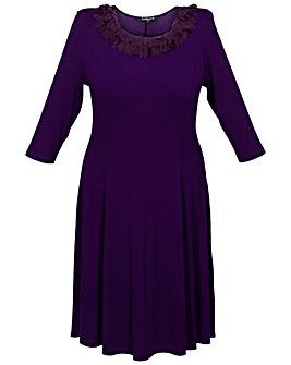 Scarlett & Jo Petal Trim Dress