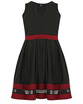 Samya Colour Block Skater Dress