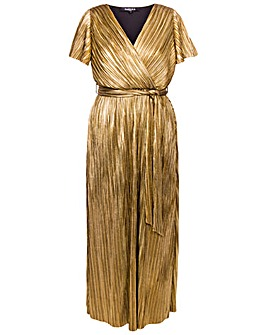 Scarlett & Jo Pleated Wrap Dress