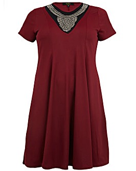 Koko Neckline Detail Swing Dress