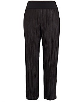 Koko Black Pleated Palazzo Trousers