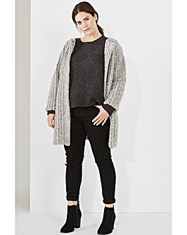 Elvi Woollen Collarless Coat
