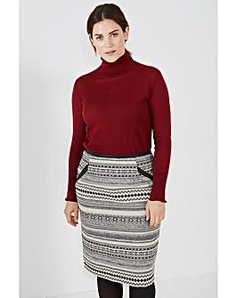 Elvi Mono Pencil Skirt