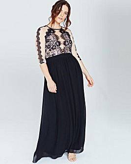 Little Mistress Monochrome Maxi Dress