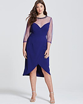 Little Mistress Cobalt Midi Dress