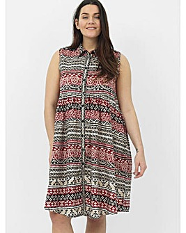 Koko Tribal Shirt Dress