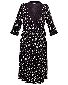 Scarlett & Jo Floral Wrap Collar Dress