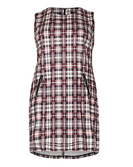 Samya Checked Shift Dress