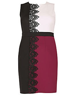 Samya Lace Trim Block Colour Dress
