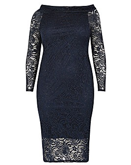 Samya Glitter Bodycon Dress