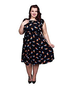 Scarlett & Jo Floral Print Pocket Dress