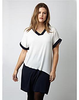 Lovedrobe GB Contrast V-Neck Dress