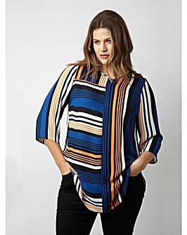 Lovedrobe GB Colour Block Stripe Blouse