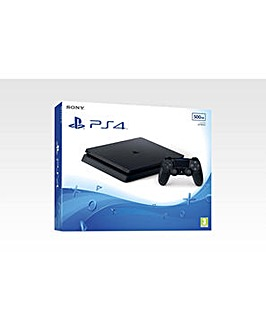 PS4 Slim New Look 500gb Black Console