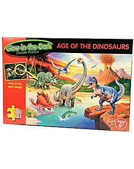 Glow in Dark Dinosaurs 100 Piece Jigsaw