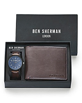 Ben Sherman Brown Watch & Wallet Set