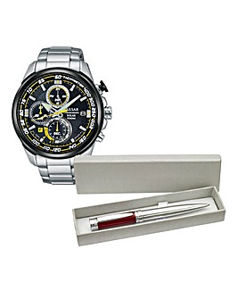 Pulsar Gents Bracelet Watch and FREE Pen
