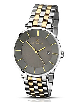 Accurist Slim Two Tone Bracelet Watch