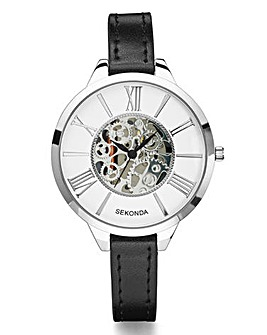 Sekonda Ladies Skeleton-Dial Slim Watch