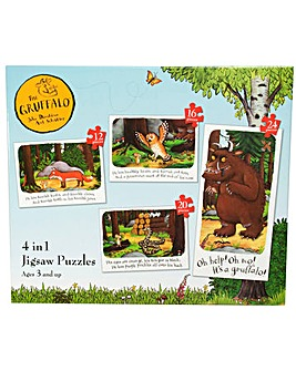 The Gruffalo 4 in 1 Jigsaw Puzzles