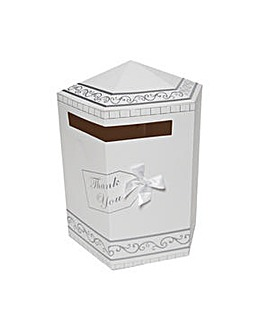 Wedding Card Hexagonal White Post Box