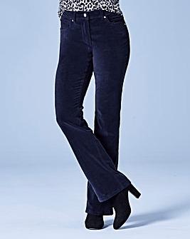 Velvet Bootcut Jeans Long
