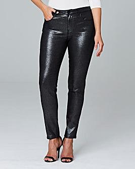 Saskia Glitter Slim Leg Jeans Reg