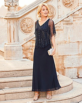 Beaded Cape Dress
