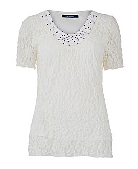 Nightingales Bubble Lace Top